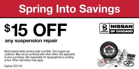 Spring Into Savings: $15 OFF any suspension repair