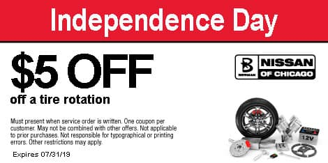 Independence Day: $5 OFF a tire rotation