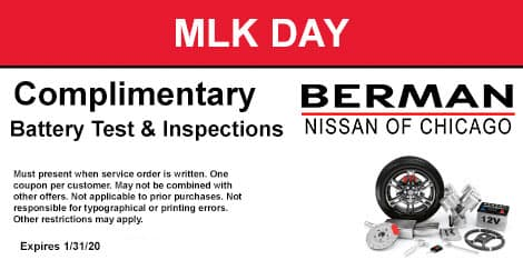 Martin Luther King Day Special: Complimentary Battery Test & Inspections