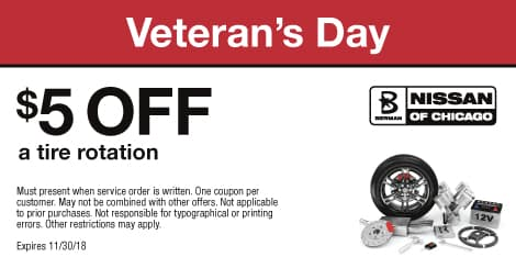 Veteran's Day: $5 OFF a tire rotation