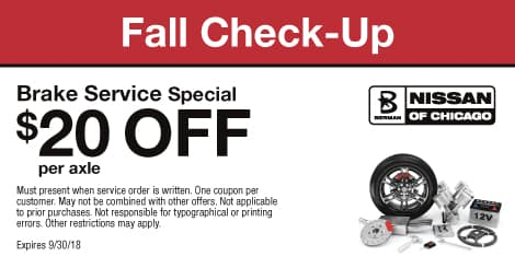 Fall Check-Up: Brake Service Special $20 OFF per axle