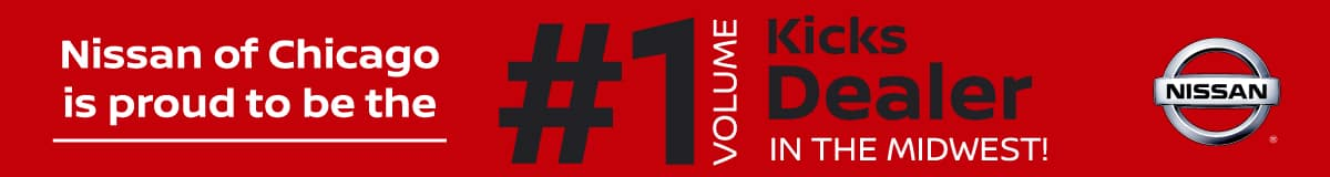 Berman Nissan of Chicago is proud to be the #1 volume Kicks dealer in the Midwest!