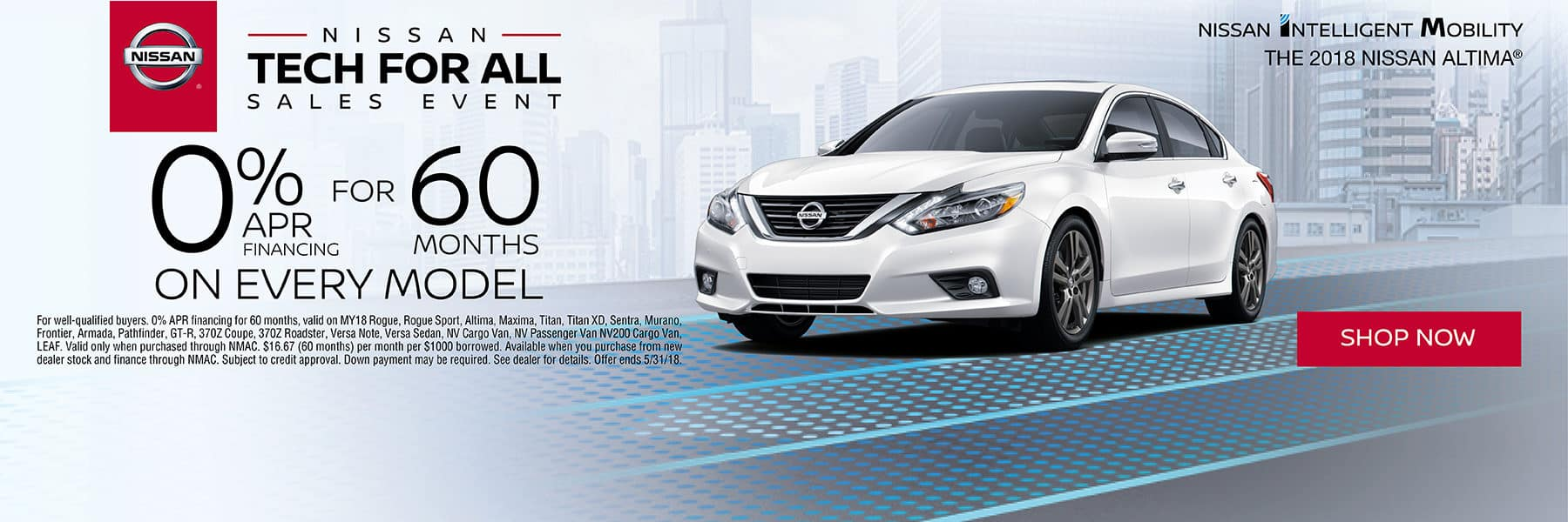 Time to Upgrade to a New Nissan with 0% for 60 months on all New Nissan Models during the Nissan Tech for All Sales Event at Berman Nissan of Chicago!