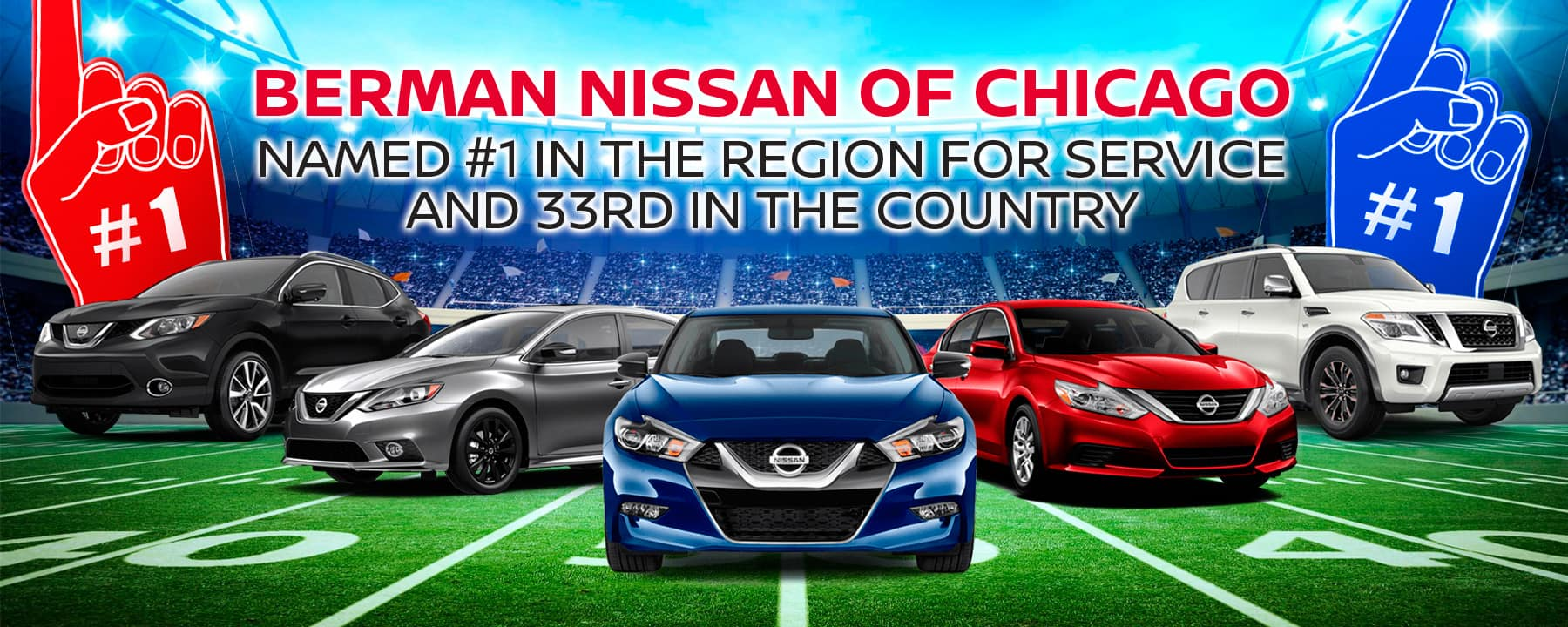 Berman Nissan of Chicago Named #1 in the Region for Service!