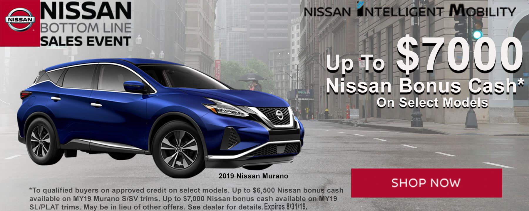 Get Up to $7,000 Nissan Bonus Cash on 2019 Nissan Murano at Berman Nissan of Chicago!
