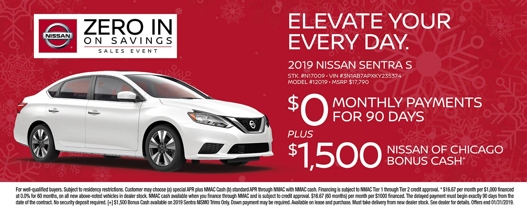Zero in on Savings with the 2019 Nissan Sentra