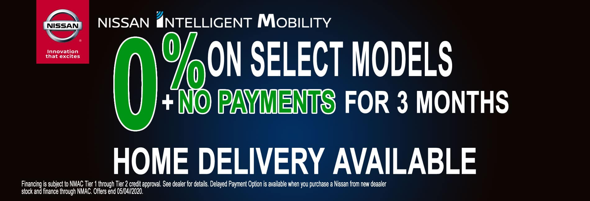 Get Zero Percent APR financing for 60 Months and No Payments for 3 Months on Select Models
