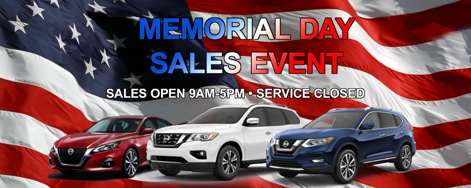 Memorial Day Sales Event Hours at Berman Nissan of Chicago!