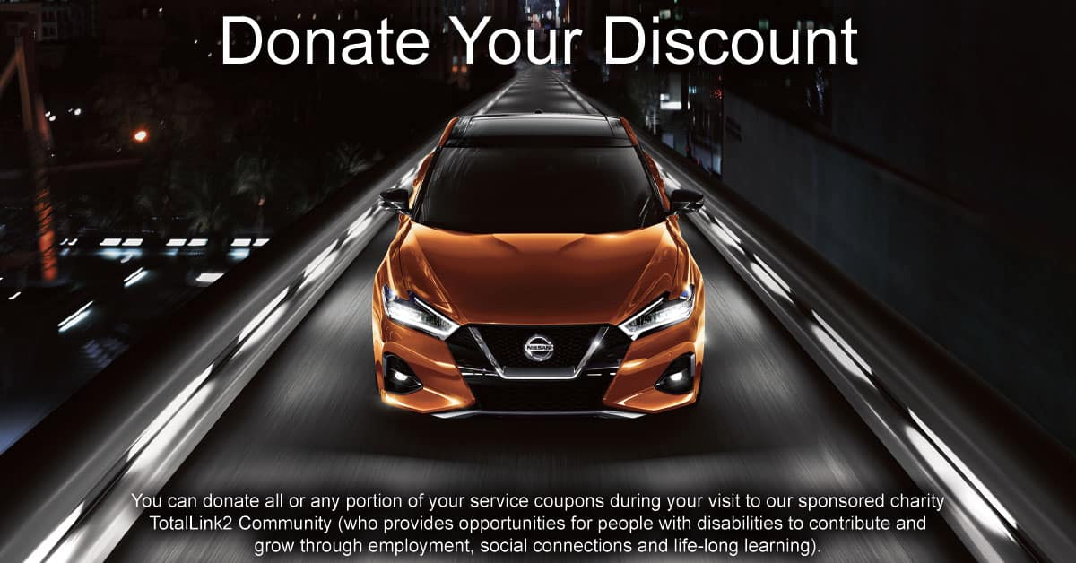 Donate Your Discount at Berman Nissan of Chicago