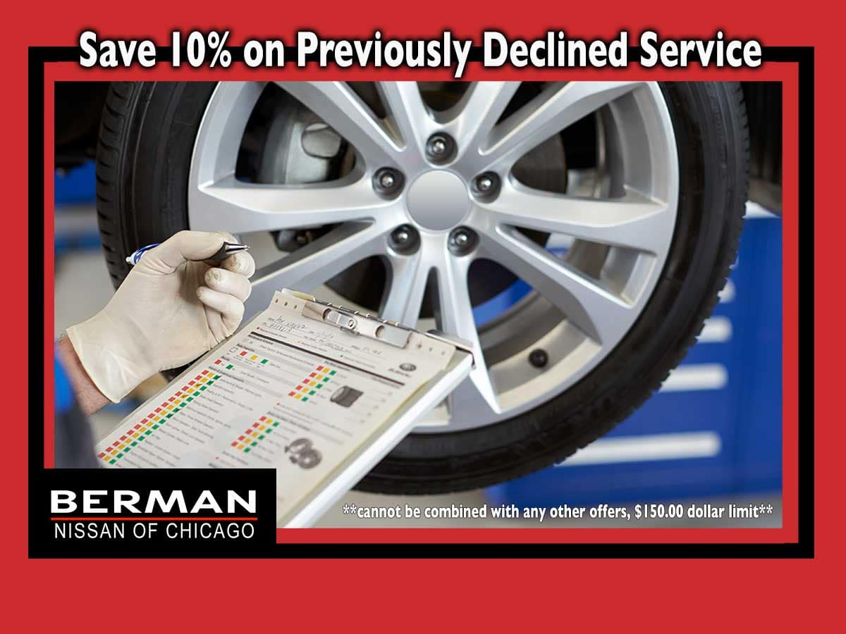 Save 10% on Previously Declined Service