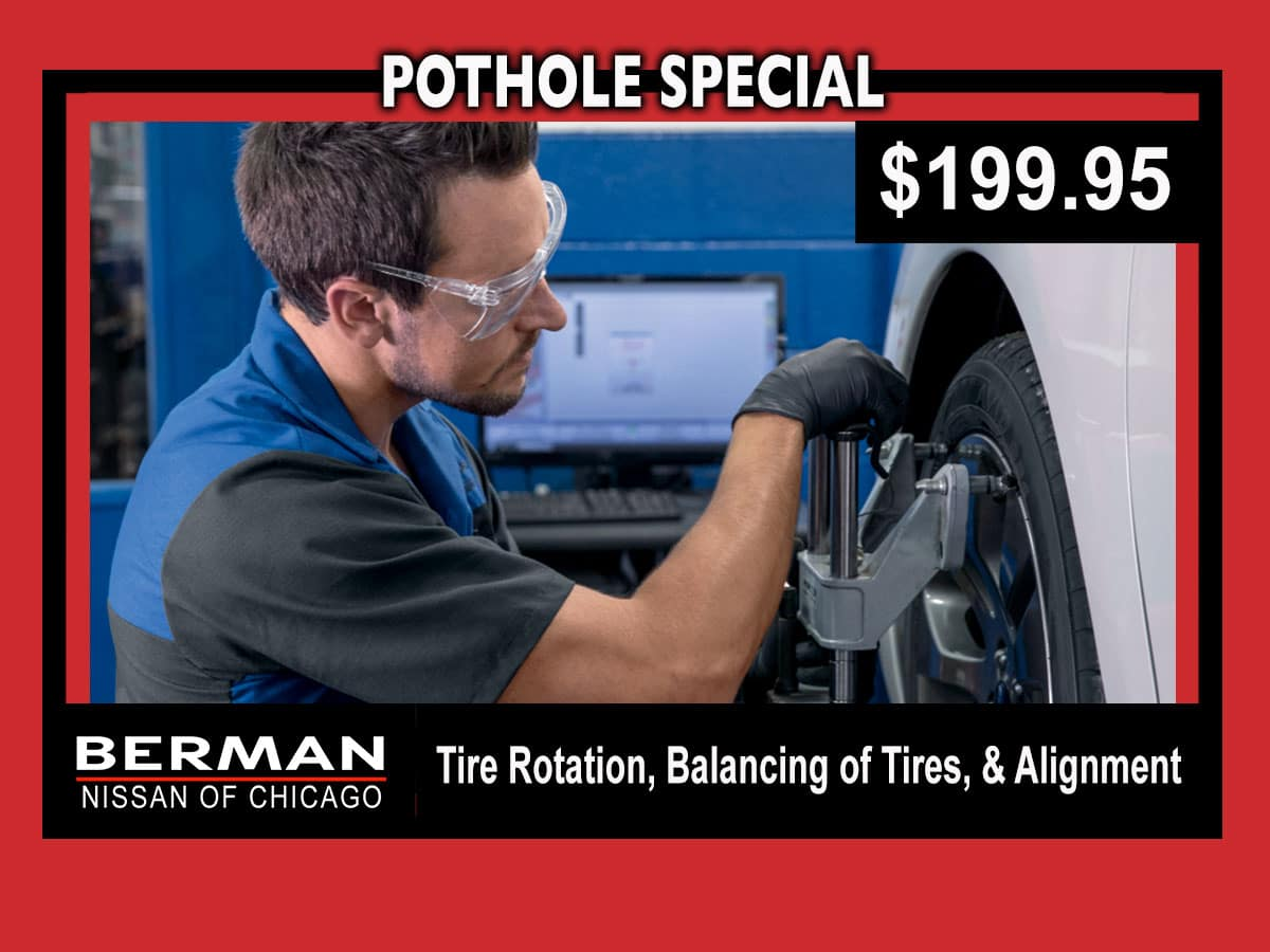 Pothole Special: Tire Rotation, Balancing, & Alignment for $199.95