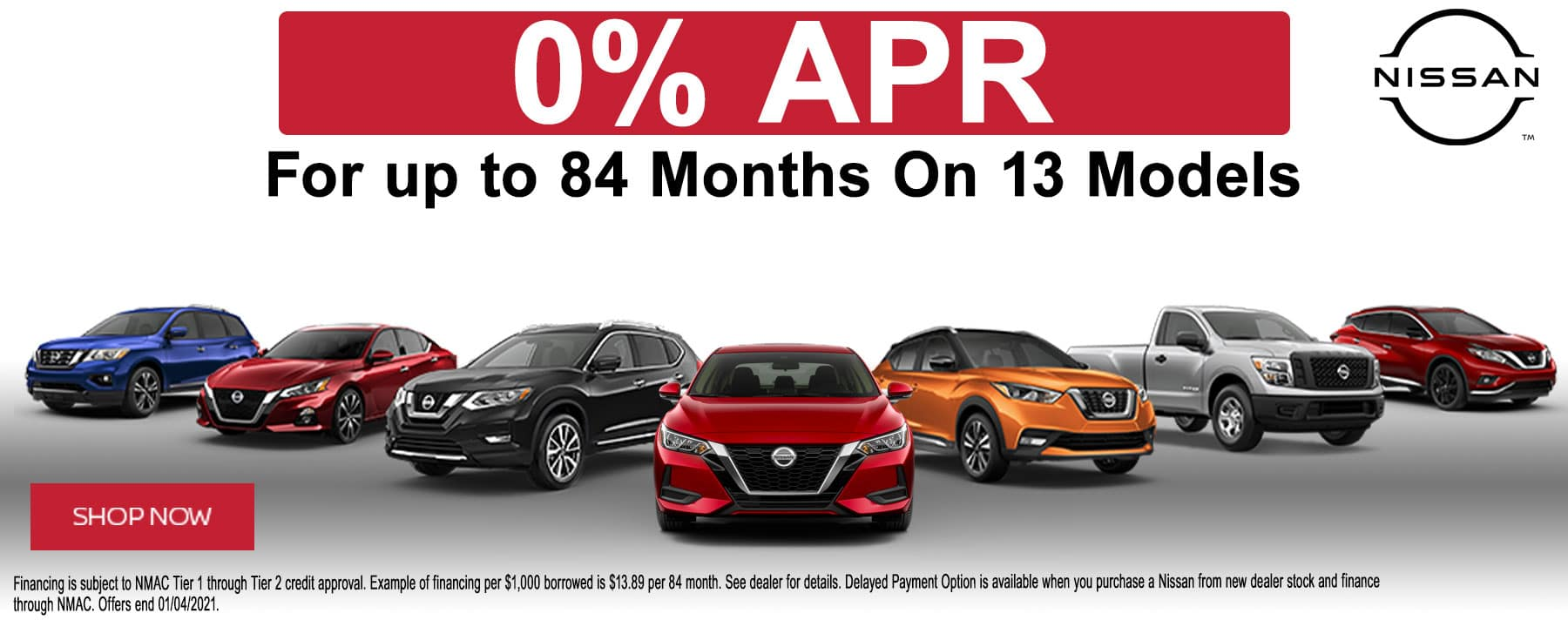 Get Zero Percent APR financing on Select Models