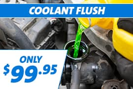 Coolant Flush Only $99.95