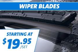 Wiper Blades starting at $19.95/set