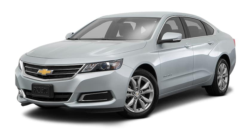 A silver 2018 used Chevrolet Impala is facing left.