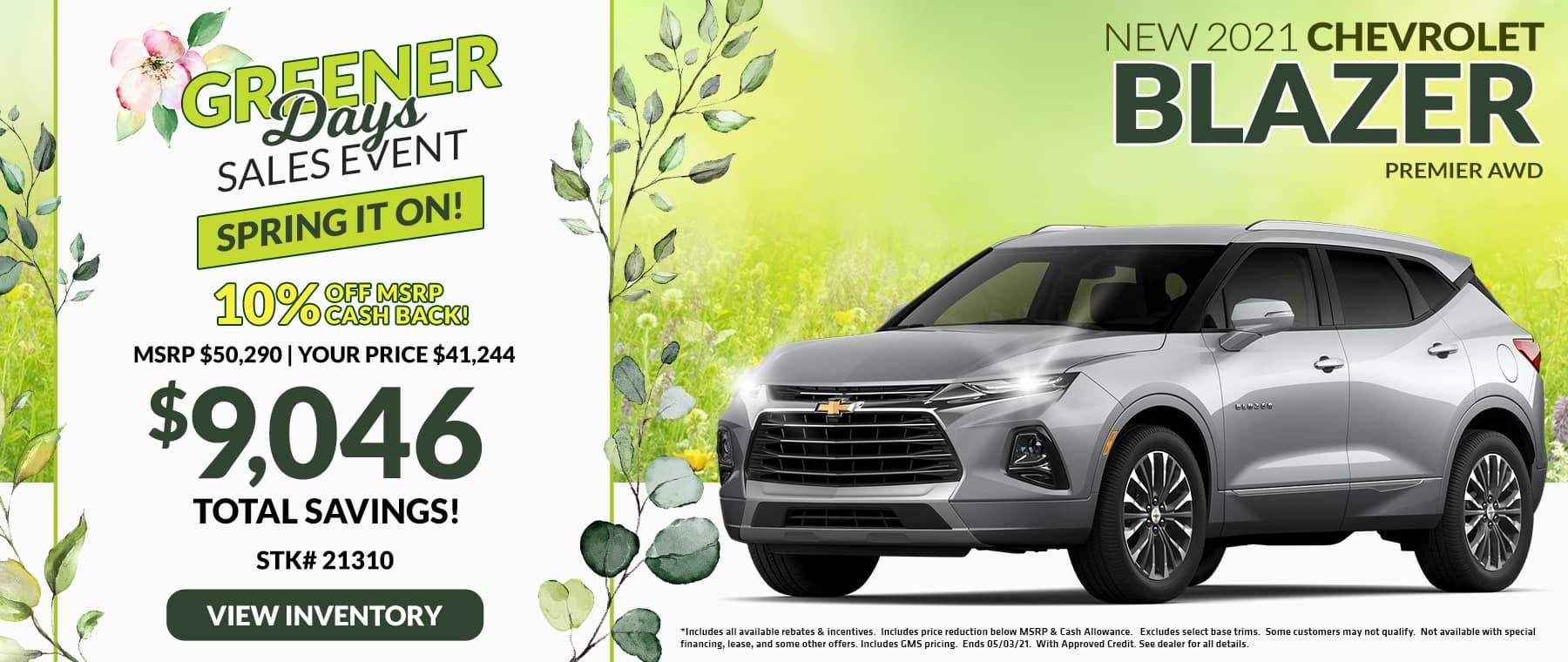 New 2021 Chevrolet Blazer Premier AWD