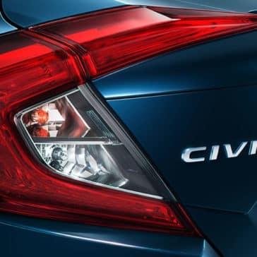 Blue 2018 Honda Civic taillight