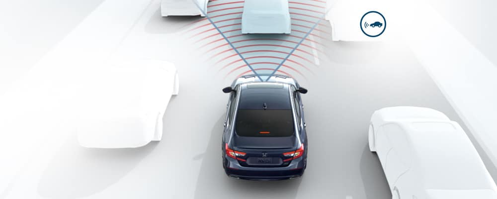 Forward vehicle detection radar waves coming from Honda vehicle