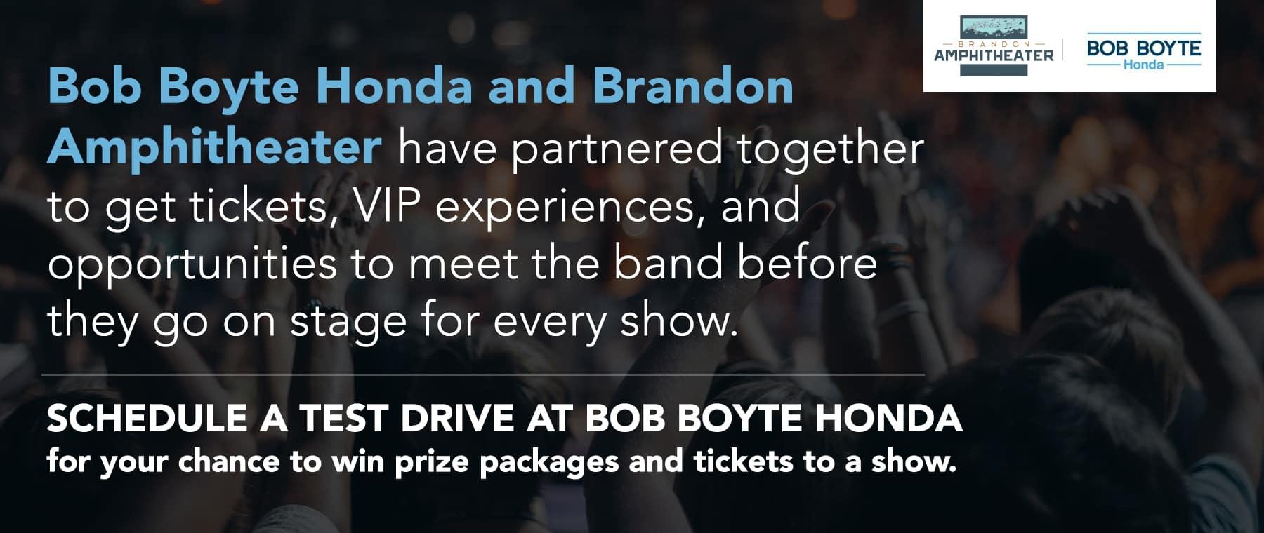 Brandon Amphitheater and Bob Boyte Honda