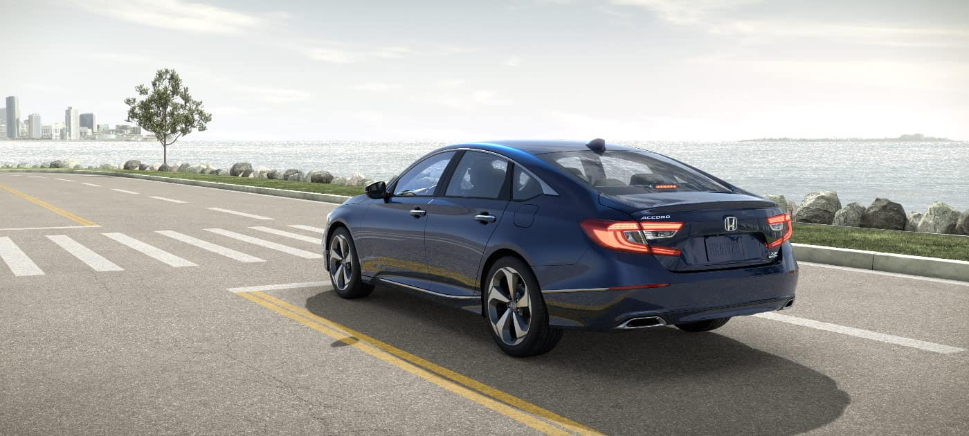 2018 Honda Accord Blue Stoped on road