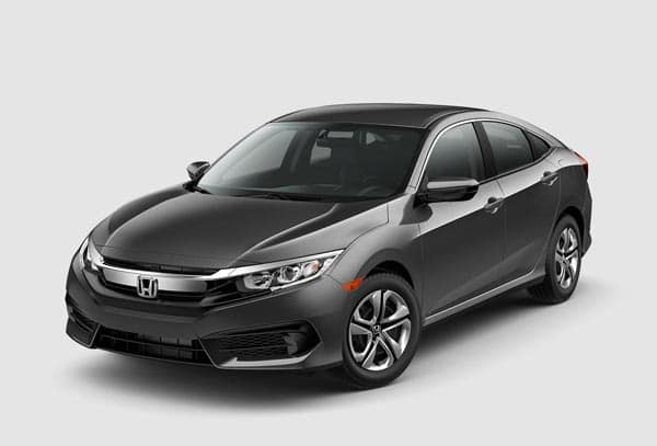 Steel Gray 2018 Honda Civic Sedan at an angle