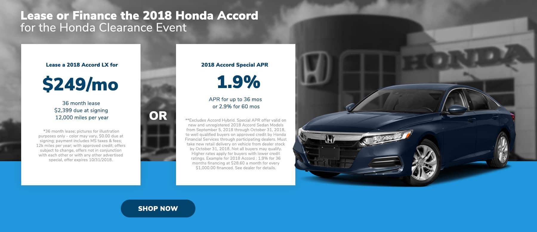 Honda Accord LX offer in Brandon, MS