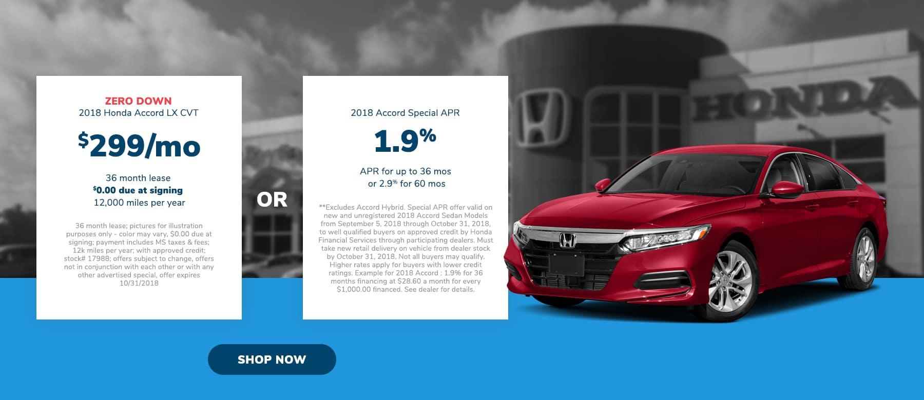 Honda Accord Specials in Brandon, MS
