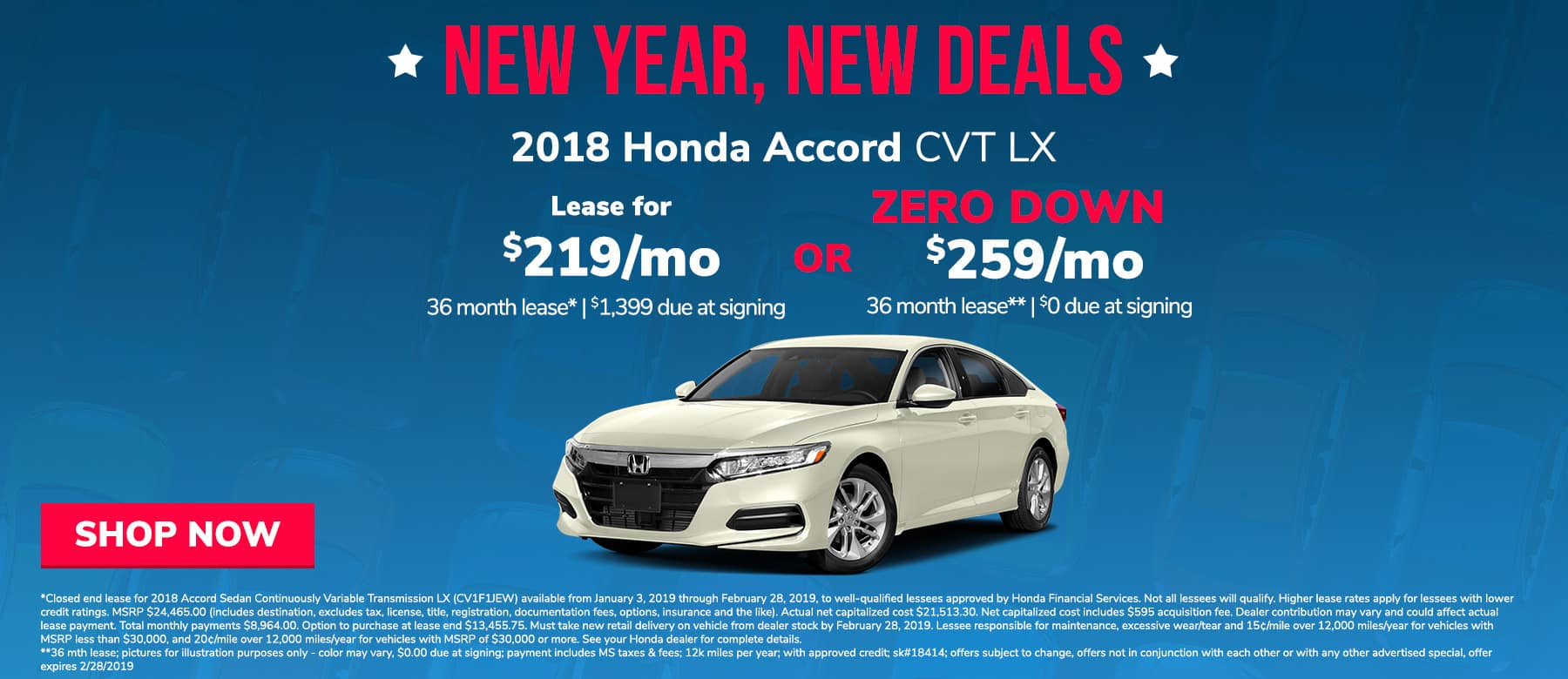 Honda Accord offer near Jackson