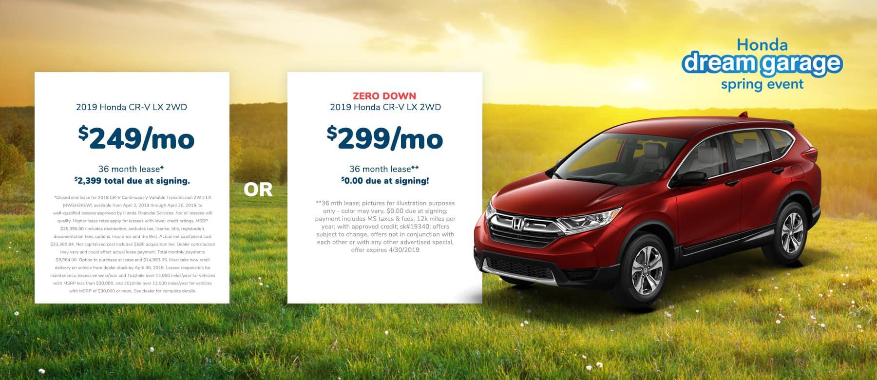 Honda CR-V Lease Offer Near Me