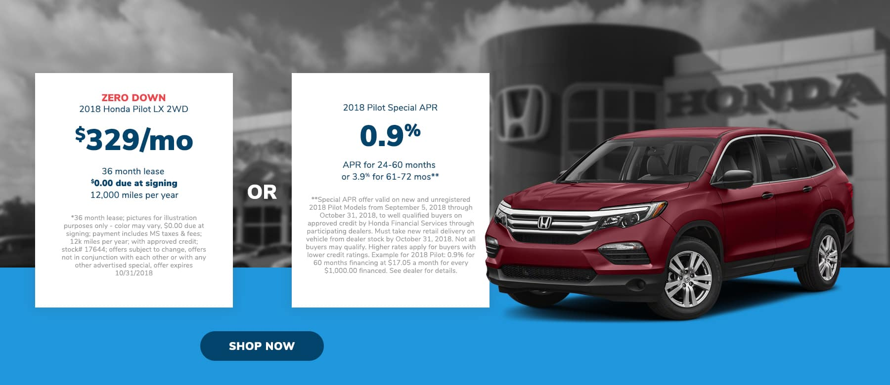 Honda Pilot Incentives in Brandon, MS