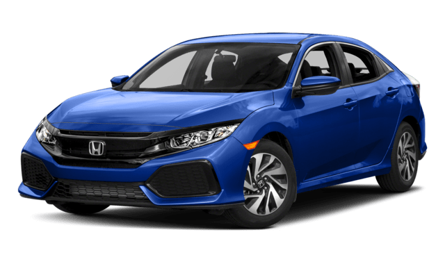 2018 Honda Civic Hatchback in blue