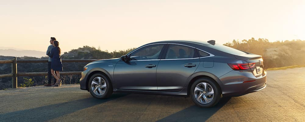 2019 Honda Insight parked in a sunset