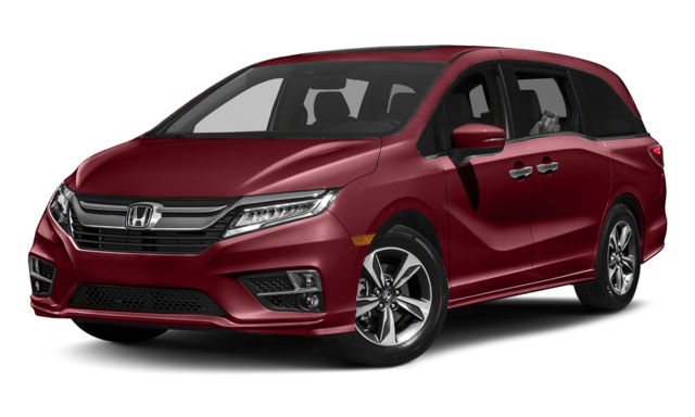 red 2019 Honda Odyssey with chrome accents