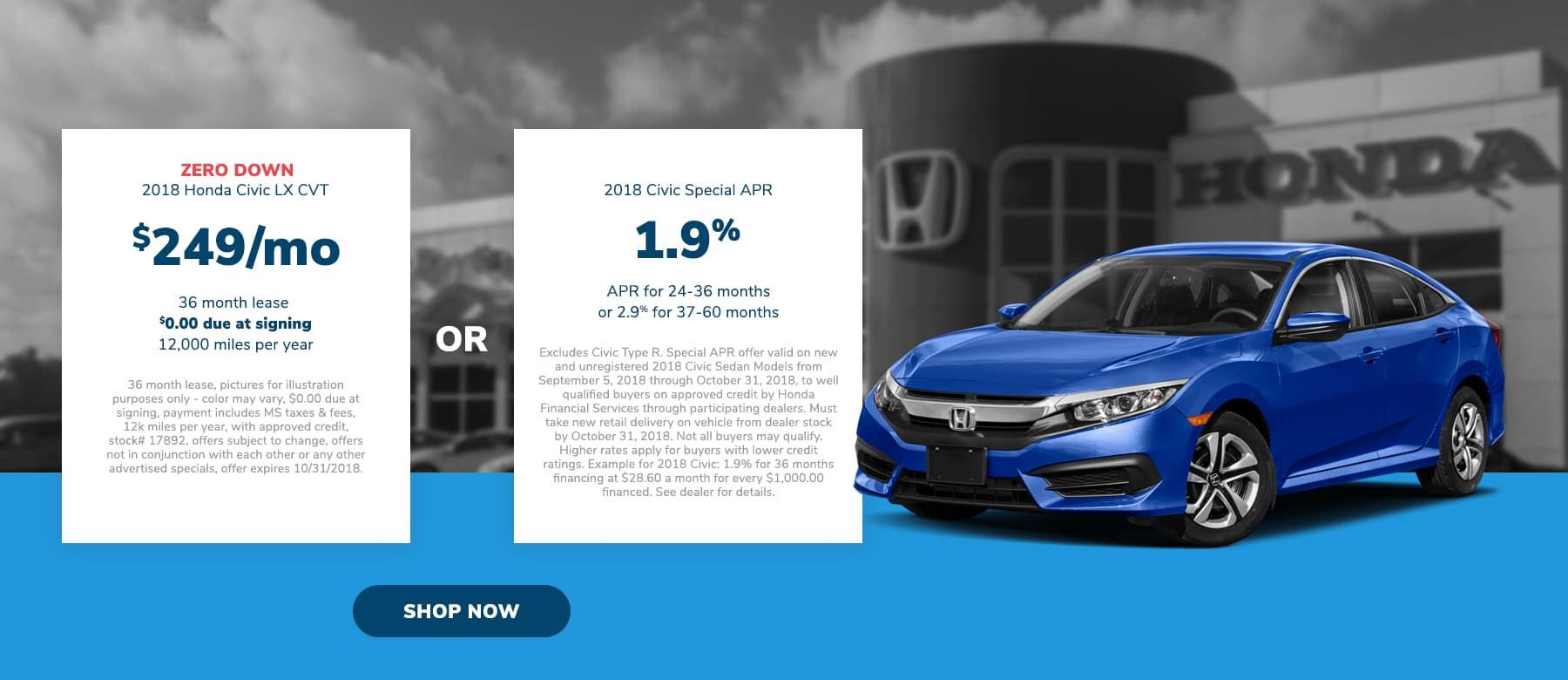 Honda Civic Offer near Jackson, MS