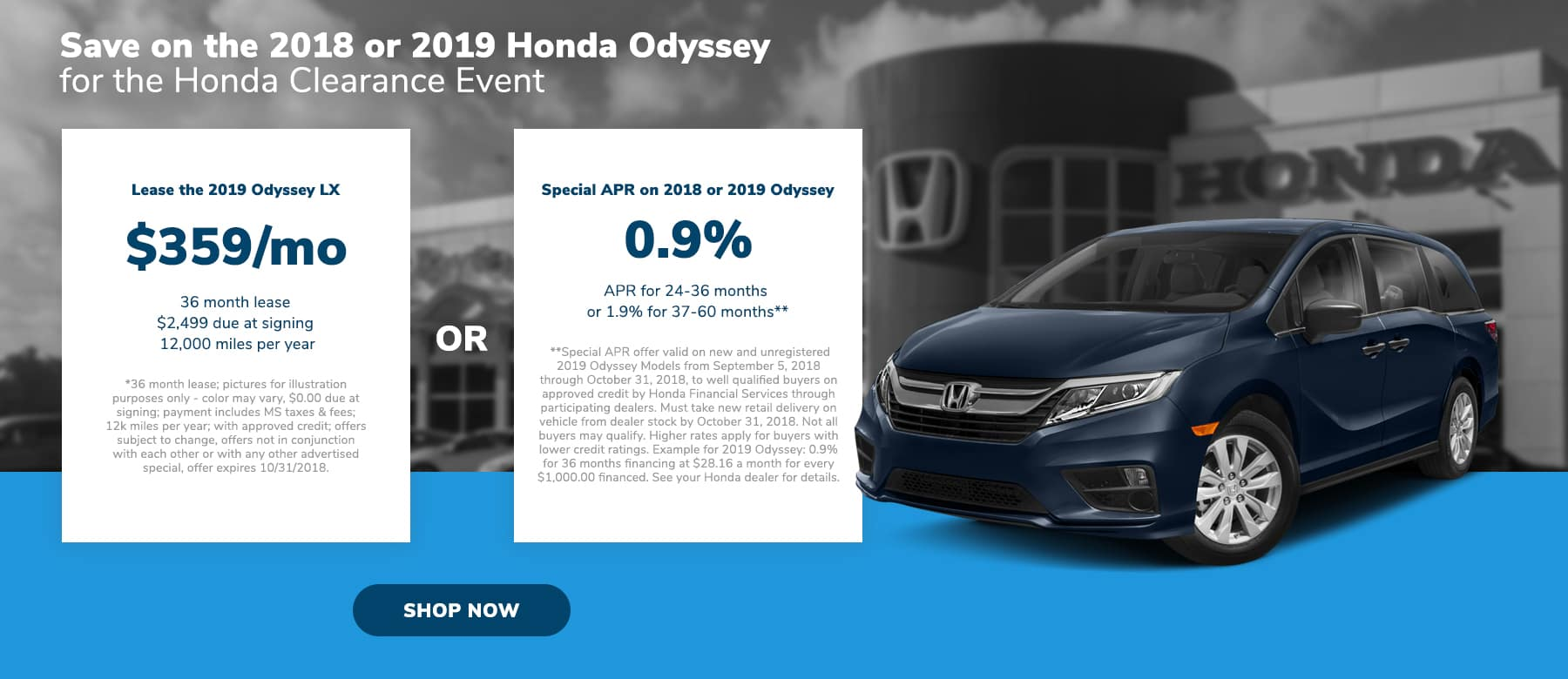 Honda Odyssey Offer in Brandon, MS
