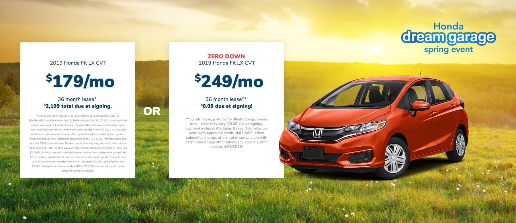 Honda Fit Lease Deal Near Jackson
