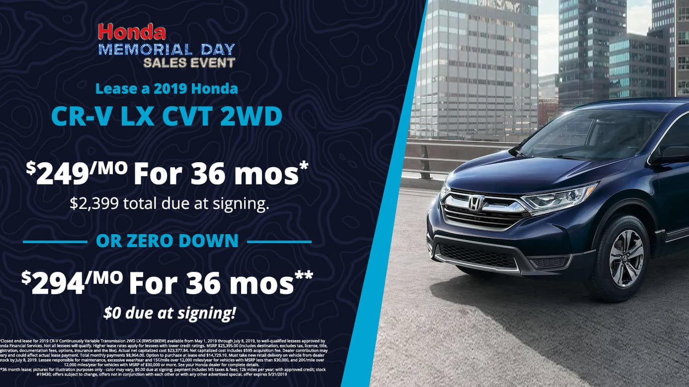 CR-V Lease Offer