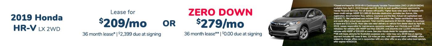 Honda HR-V Lease Offer