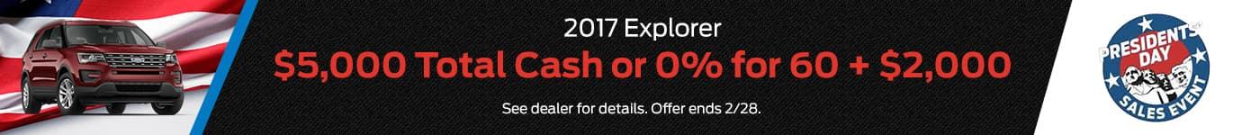 2017 Ford Explorer PD Offer