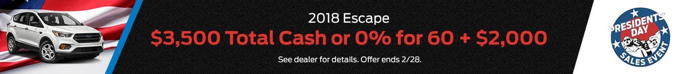 2018 Escape PD Offer