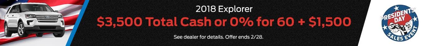 2018 Ford Explorer PD Offer