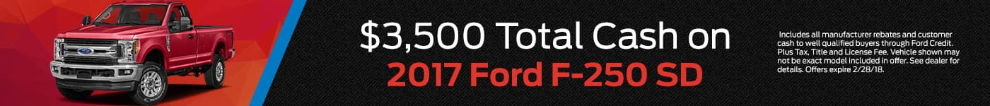 February Ford F-250 Offer