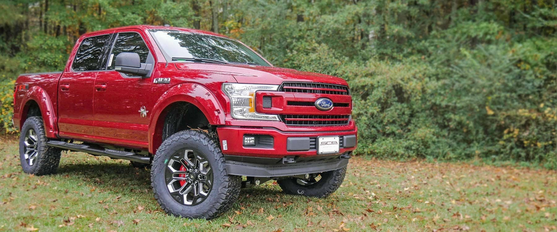 Ford F-150 Black Widow Ruby Red