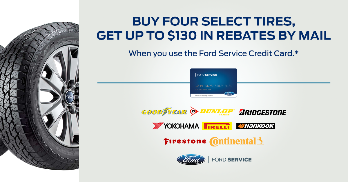 Bob Chapman Ford Tire Special Rebate Offer