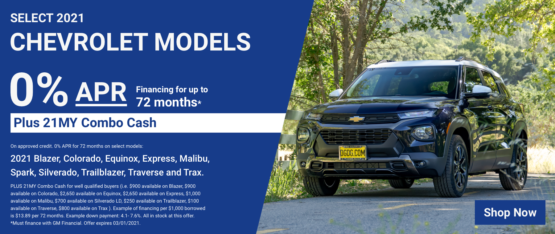 APR – Select 2021 Chevy Models – 0 for 72