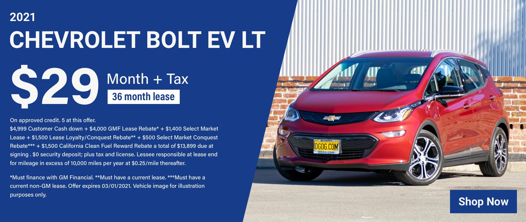 L – 2021 Chevy Bolt EV LT – $29mo Revised 4