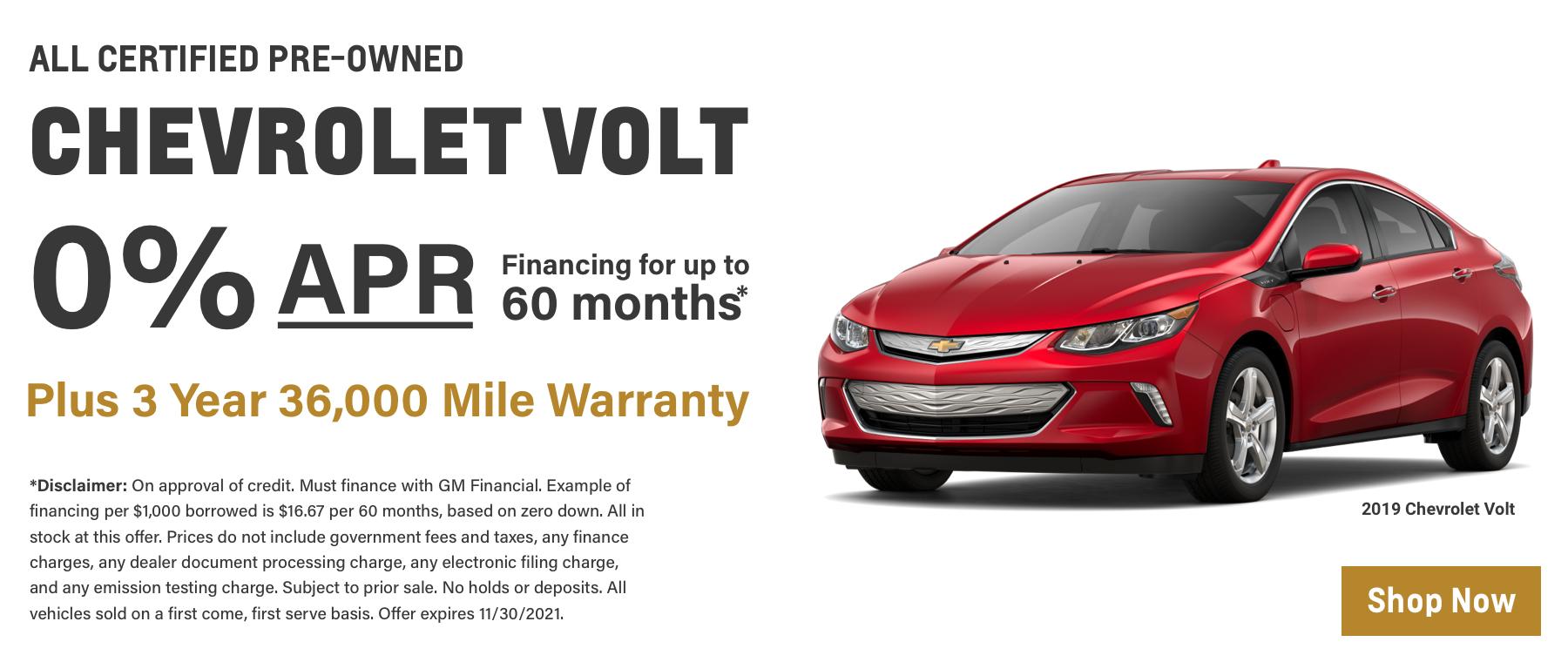 OCT CPO Chevrolet Volt Updated