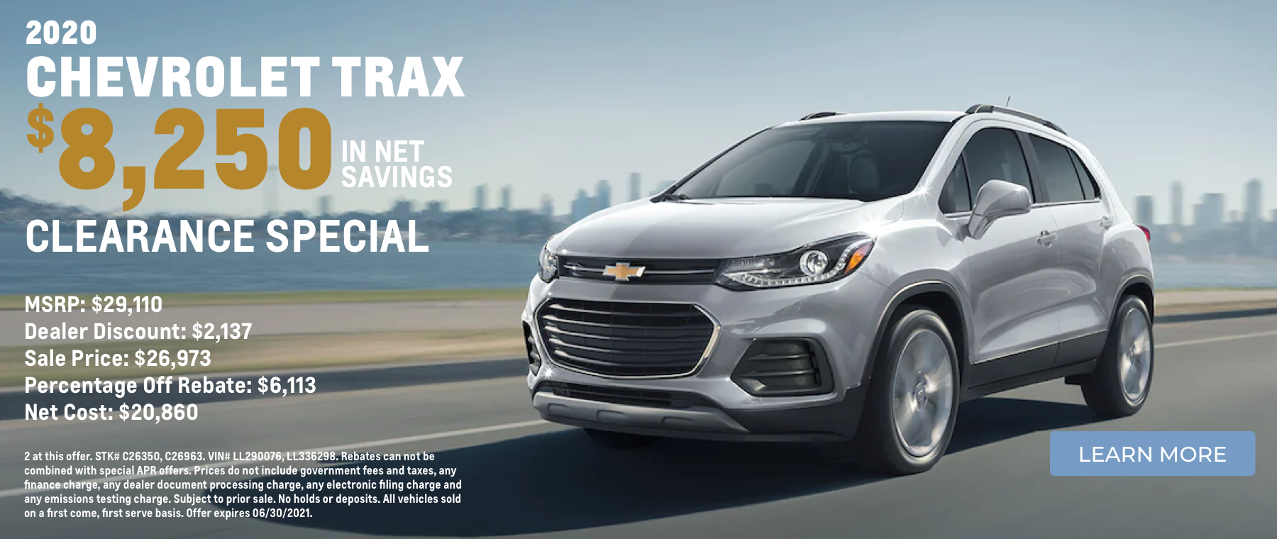 2020 Chevy Trax Special
