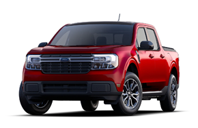 2022 Ford Maverick Lariat First Edition in the color Rapid Red