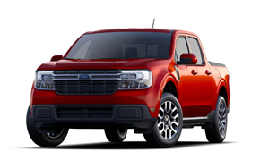2022 Ford Maverick Lariat in the color Hot Pepper Red